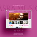 طراحی وبسایت آسرا موزیک